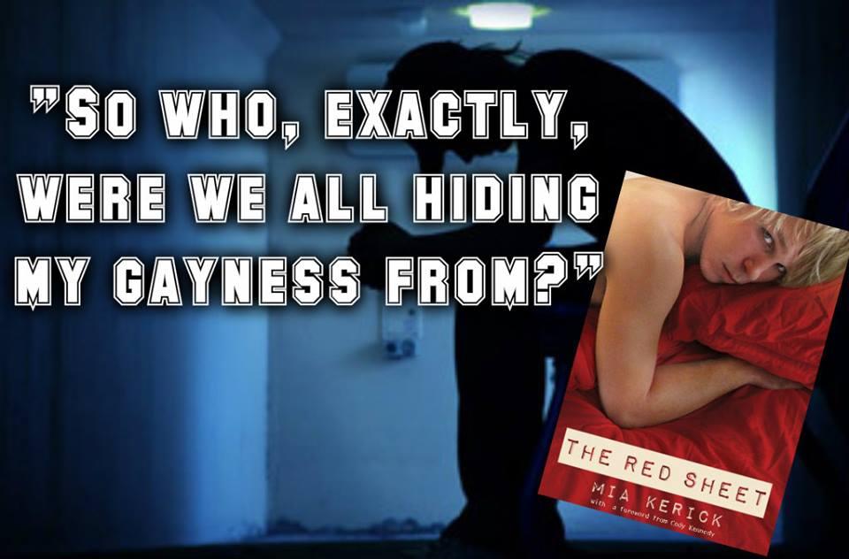 promo hiding gayness red sheet