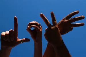 fingers spell love