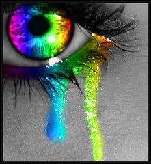 green eye crying