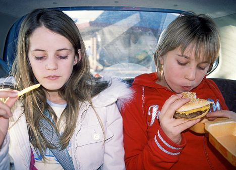 eating in the car